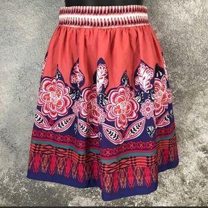 Spring floral Forever 21 elastic waist skirt small